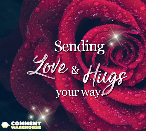 Sending love and hugs your way | Hug Graphics, Images, Greetings, Pics