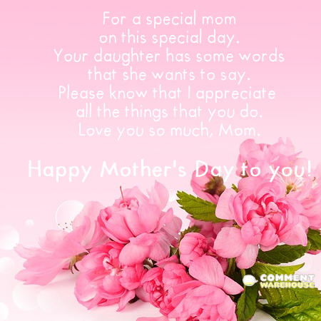 Mother's Day for a special mom on this special day