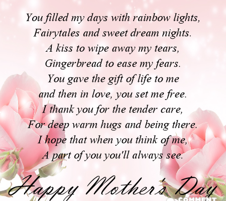 Happy Mother's Day - You filled my days with rainbow lights, fairytales and sweet dream nights